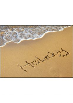 Holiday Text In Sand
