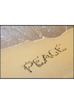 Peace Text In Sand