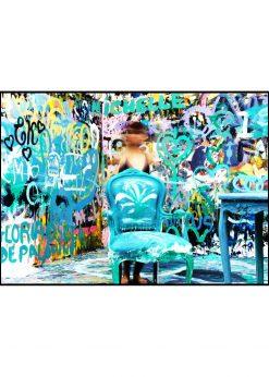 Blurred Graffiti Room
