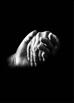 Romantic Hands In Black And White