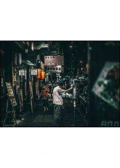 Asian Street In Night