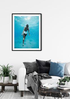 Swimming In Blue Sea
