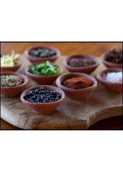 Spices In Clay Bowls