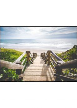 Wooden Stairs Down To The Beach