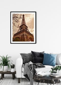 Eiffel Tower in Sepia Color
