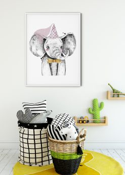 Cute Elephant With A Princess Hat