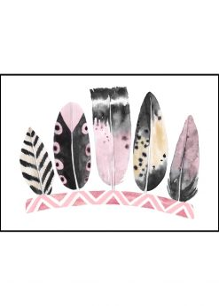 Five Pink Feathers