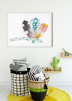 Three Colorful Feathers
