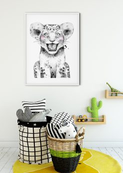Cute Lion Baby Painting
