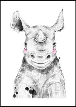 Cute Baby Rhino Painting