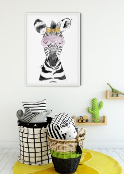 Cute Baby Zebra With Bow Tie Painting