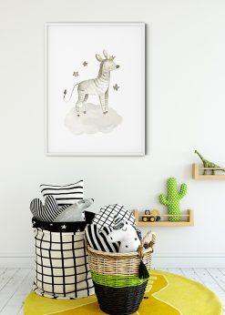 Baby Zebra With Stars Painting