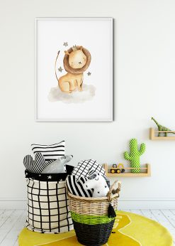 Baby Lion With Stars Painted