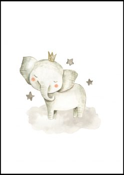 Baby Elephant With Stars Painting
