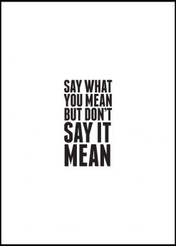 Say What You Mean But Not Mean