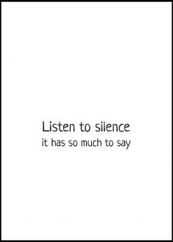 Silence Has Much To Say
