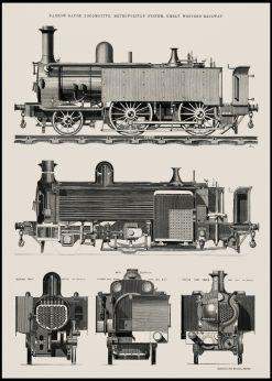 Vintage Steamtrain Illustration