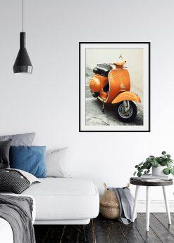 Classic Orange Scooter