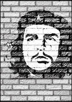 Che Guevara On Brickwall