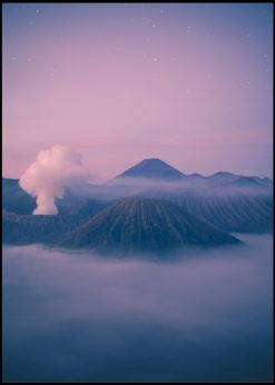 Purple Sky And Brown Mountains