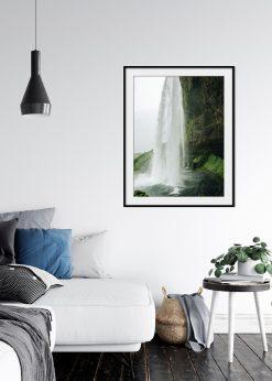 Waterfall And Stony Wall