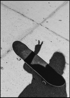 Skateboard Black and White