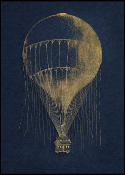Golden Hot Air Balloon