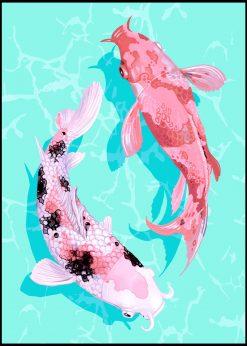 Japanese Vintage Koi Fish