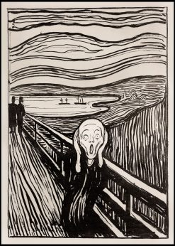 The Scream Expressionist Lithograph