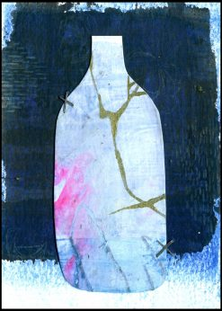 Bottle with shades of Blue