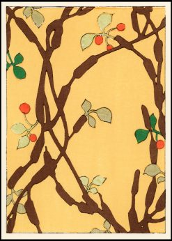 Decorative Japanese Botanical Pattern