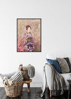Geisha and Cherry Blossom
