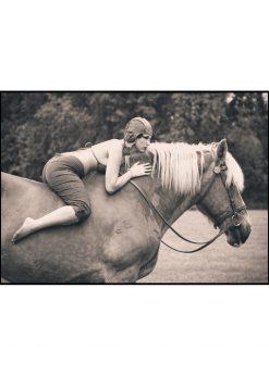Vintage Woman on Horseback