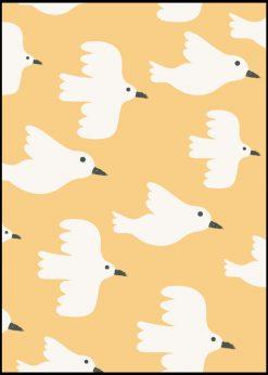 Yellow Birds Pattern