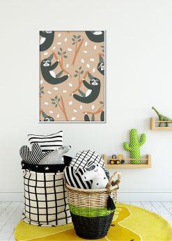 Light Orange Sloths Pattern