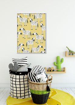 Yellow Zebras Pattern