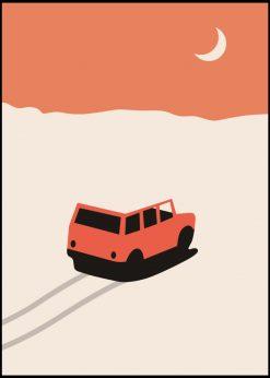 Car in Desert by Florent Bodart