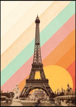 Eiffel Tower Rainbow by Florent Bodart