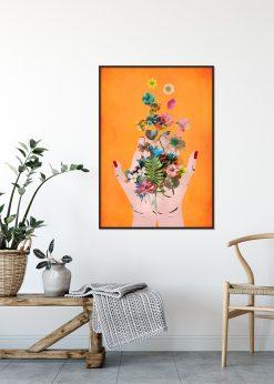 Fridas Hands Orange by treechild