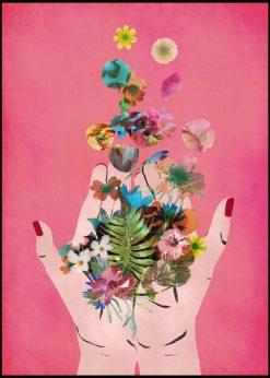 Fridas Hands Pink by treechild