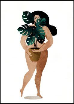 Nude With Plant by Kubistika