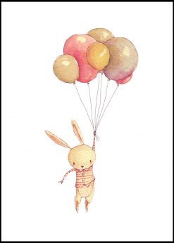 Rabbit with Balloons by Mike Koubou