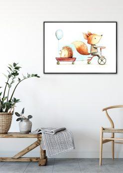 Fox and Hedgehog by Mike Koubou