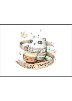 Drumming Panda by Mike Koubou