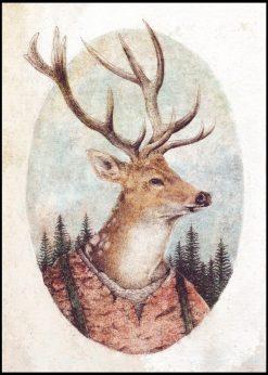 Dressed Deer by Mike Koubou
