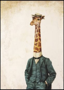 Elegant Giraffe by Mike Koubou