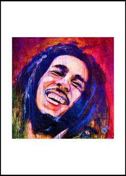 Bob Marley Red & Blue by Didier Chastan