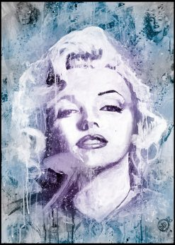 Maryline Monroe Blue and Purple by Didier Chastan