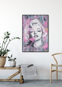 Maryline Monroe Pink by Didier Chastan
