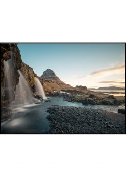 Waterfalls in Close-Up at Kirkjufell, Iceland by Wiberg
